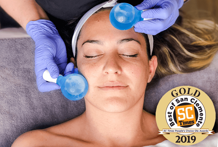 Facial with Cooling Balls