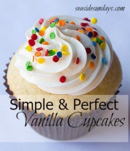 Simple & Perfect Vanilla Cupcakes