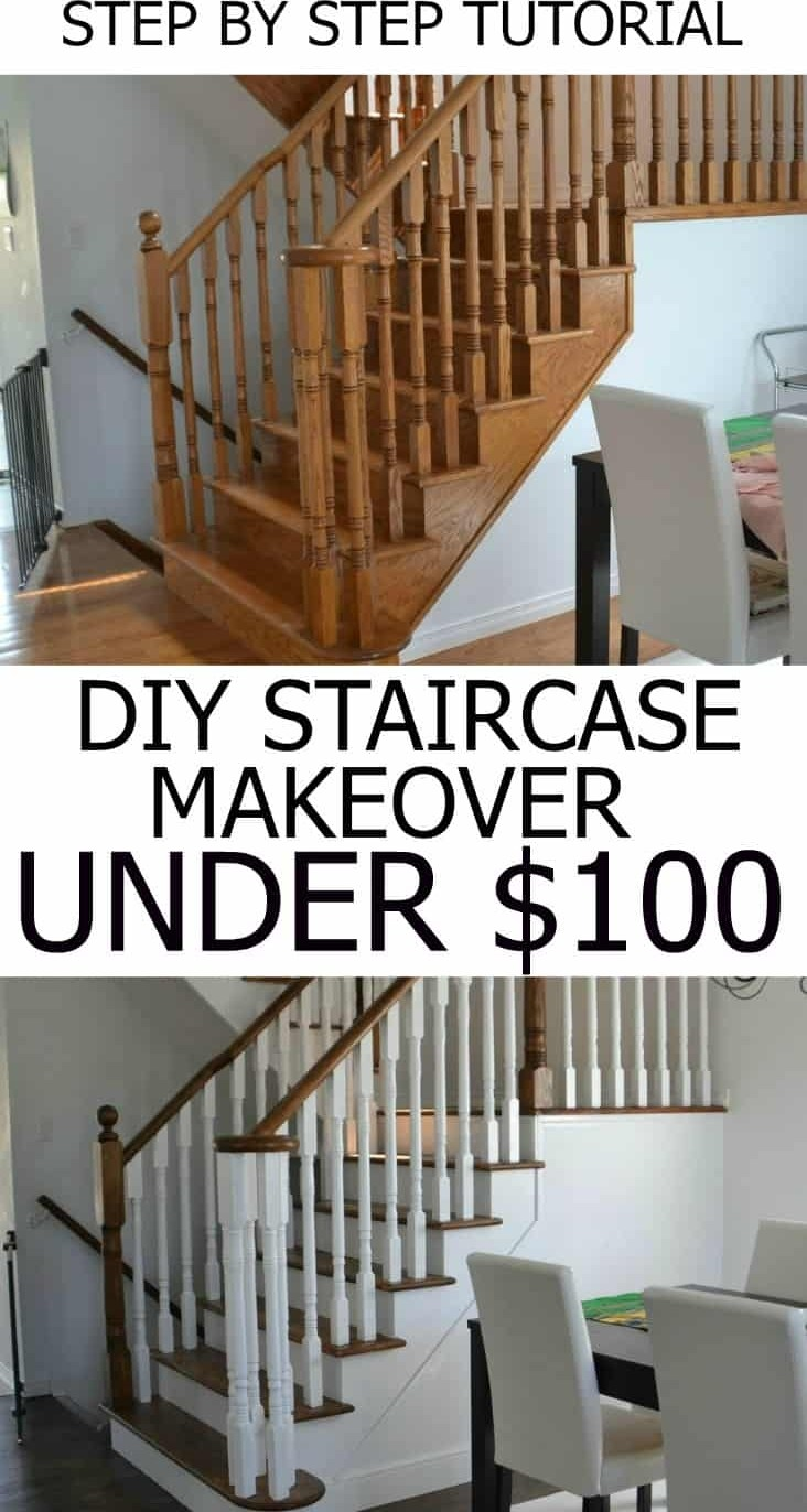 How To Refinish And Modernize Your Oak Stairs | Cost To Restain Stair Railing | Spindles | Refinishing Hardwood Stairs | Baluster | Sanding | Paint