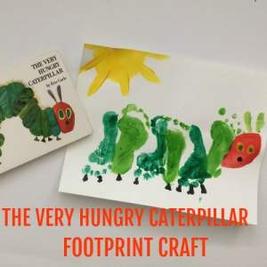 The Very Hungry Caterpillar Footprint Craft