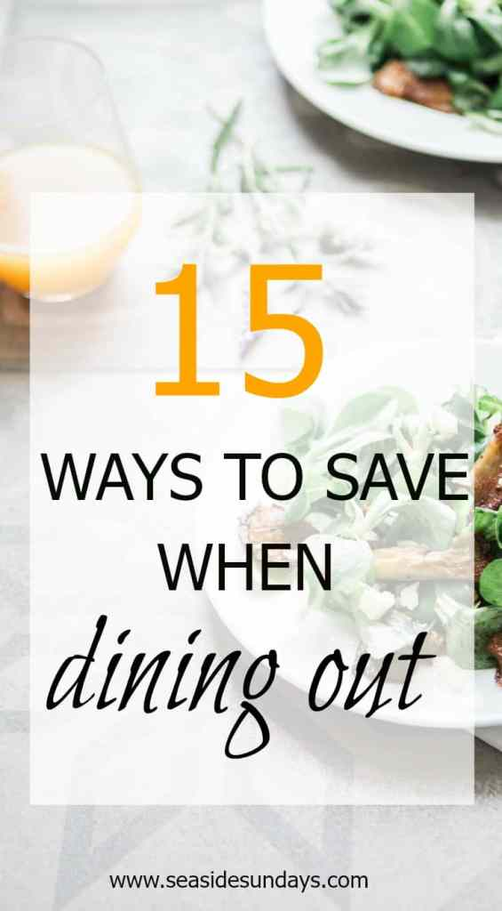Love eating out? Slash your next restaurant bill with these savvy tips from frugal savers. www.seasidesundays.com