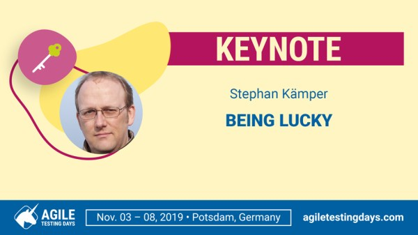 Stehpan's Keynote at ATD: Being Lucky