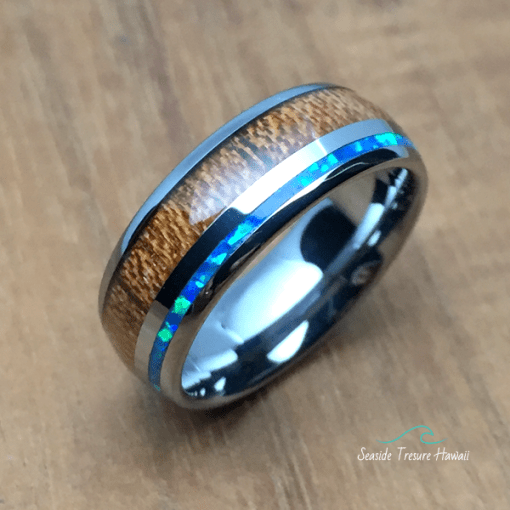 hawaiian koa wood rings