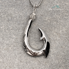 Silver Hawaiian Fish Hook Necklace