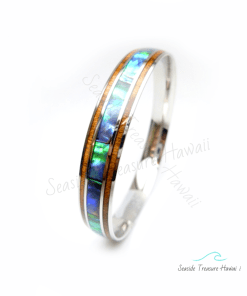 koa abalone bangle 10mm
