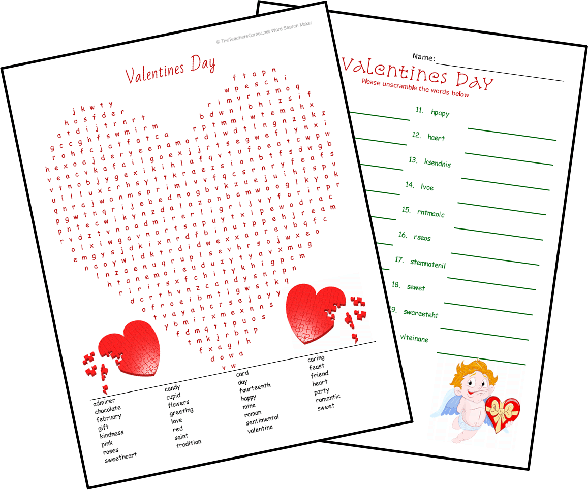 Valentine Worksheet