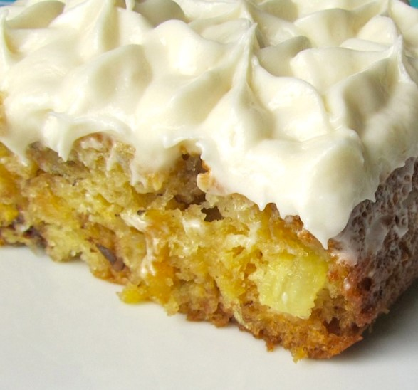 Hawaiian Wedding Cake   pineapple  coconut  macadamia nuts   Coconut     This is a very moist cake  with the taste of the tropics  It has a COCONUT  CREAM CHEESE FROSTING too  Baked in a 9x13  pan and cut into squares to  serve