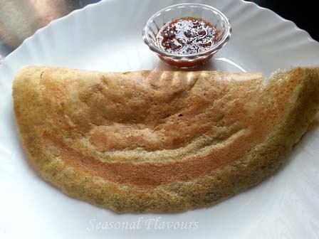 Whole Green Gram Dal Dosa Recipe