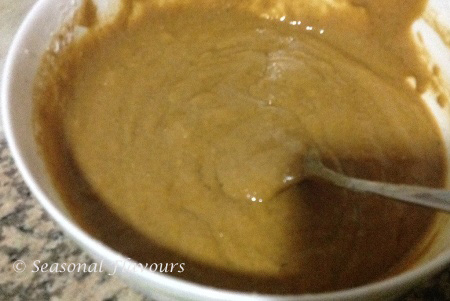 Carrot and Walnut cake Batter