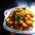 Ghugni Bengali Dried Yellow Peas Curry | Street Food Matar Ghugni Chaat