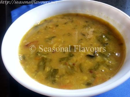Lentils Cooked With Fenugreek Leaves Recipe