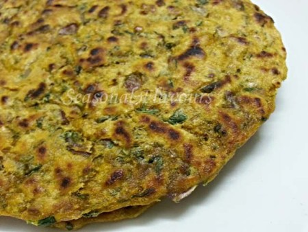 Methi Stuffed Paratha Recipe