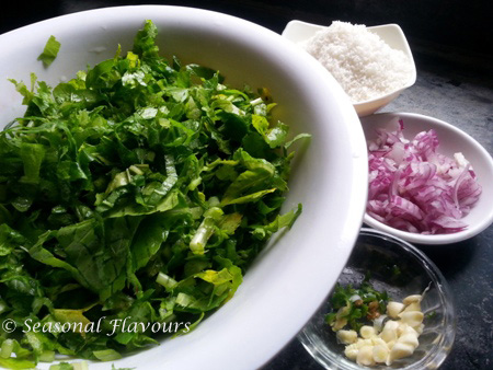 Radish Greens Stir Fry Recipe Ingredients