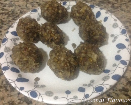 Sweet Green Gram Balls Recipe