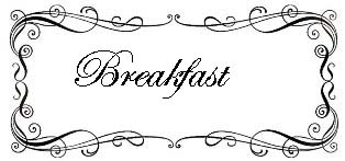 Recipe Index - Breakfast Recipes