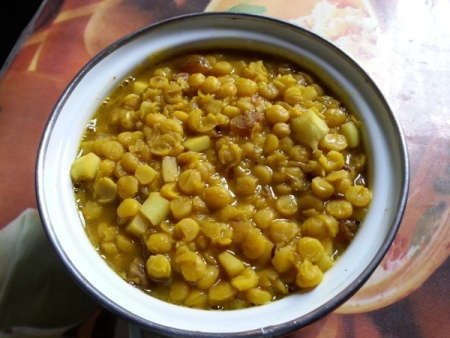Bengali Chana Dal with coconut