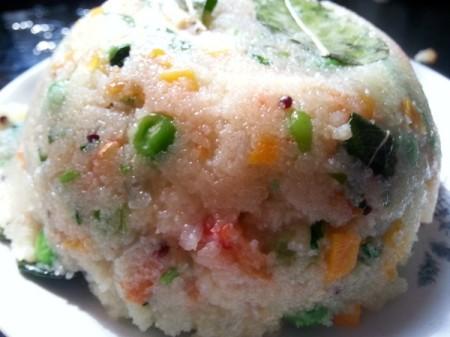 Mixed Vegetable Rava Upma