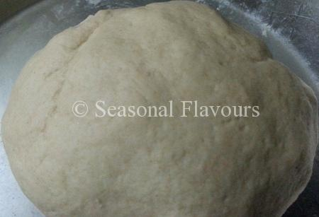 Atta dough for Indian flatbread recipe