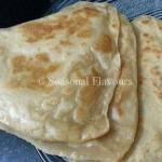 Plain Paratha Indian Flatbread With Whole Wheat Flour | Atta Paratha