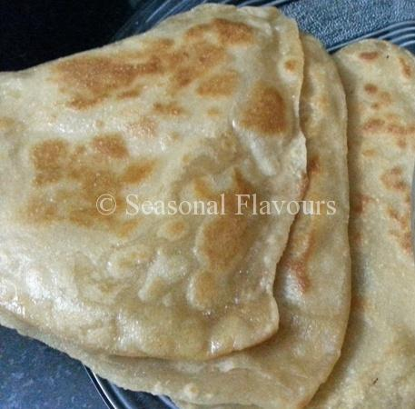 Tawa Paratha - Whole Wheat Atta Layered Indian Flatbread