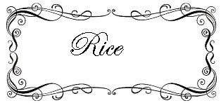 Recipe Index - Rice Dishes