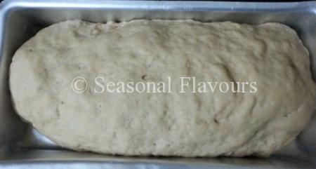 Place Whole Grain Bread dough in loaf tin