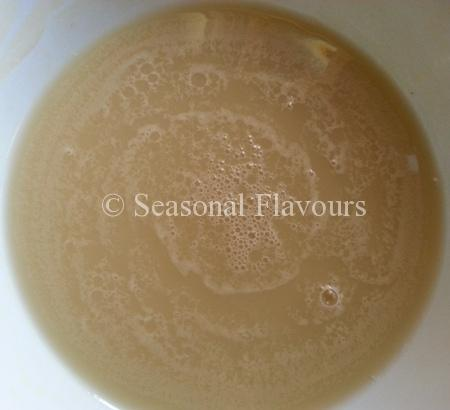 Dissolve yeast in warm water for Brown Bread