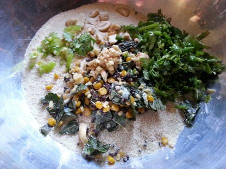 Add coriander, chilli, cashews to rava idli at home batter