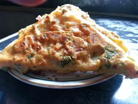 Savoury Bread Besan Toast Recipe