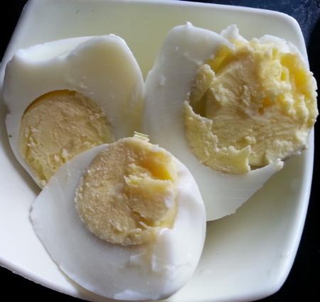 Boil eggs for dimer chop Bengali recipe