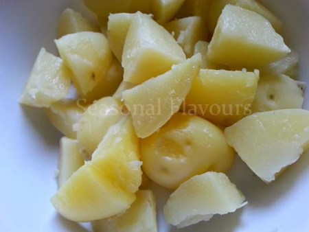 Boiled potatoes for Alu Jeera Recipe