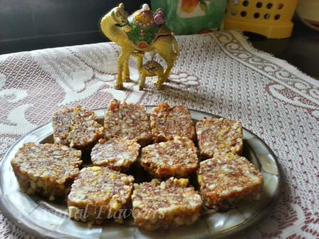 Mixed dry fruit burfi recipe