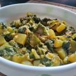 Punjabi Alu Palak Recipe