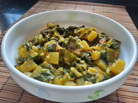 Aloo Palak Dry Recipe