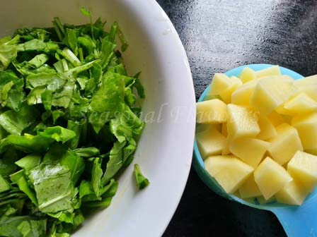 Palak aloo recipe ingredients