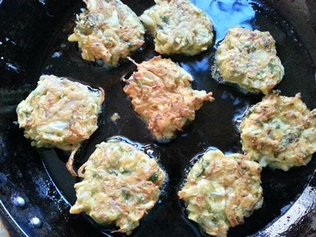 fry patta gobhi fritters recipe