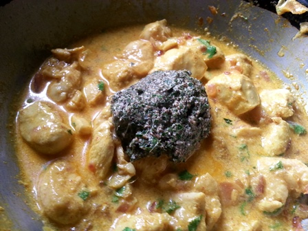add ground paste for kadipatta chicken recipe