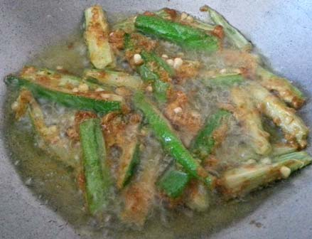 fry okra for ladies finger fry recipe