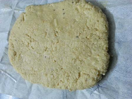 knead kaju dough for cashew katli recipe