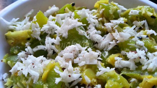 Ridge Gourd With Coconut Recipe