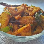 Senai Kizhangu Roast Chettinad With Elephant Foot Yam | Yam Masala Fry