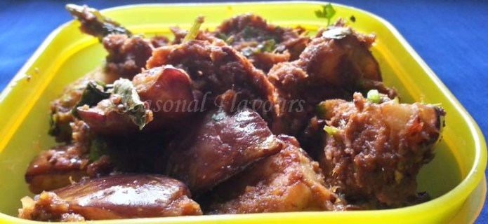 Brinjal Onion Masala Recipe