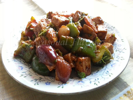 Stir Fried Paneer Chinese Style Recipe