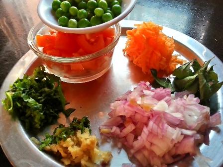 Ingredients for leftover idli upma recipe