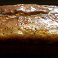 Whole-Clementine Poppy Seed Pound Cake with Earl Grey Glaze