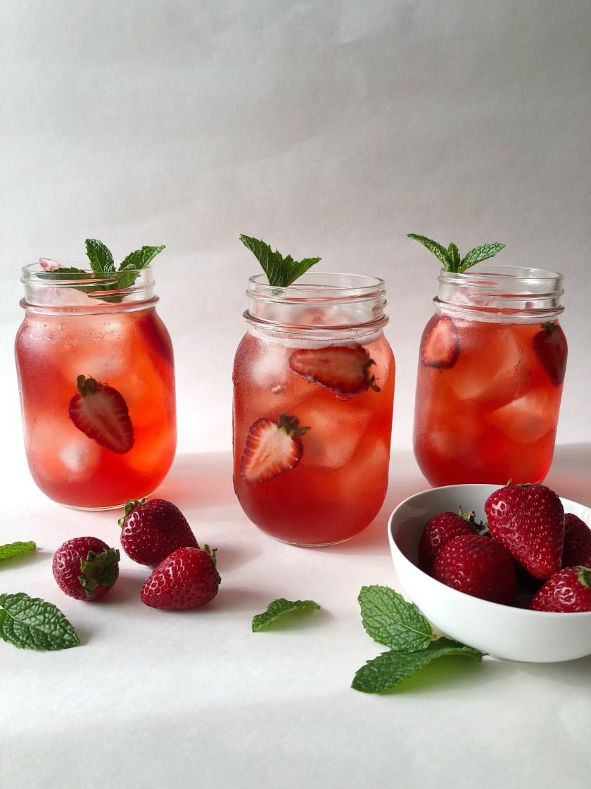 Strawberry Hibiscus Iced Tea | Season&ServeBlog