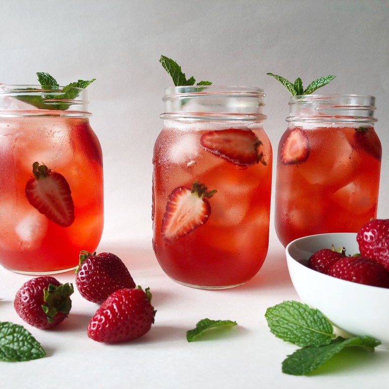 Strawberry Hibiscus Iced Tea | Season&ServeBlog