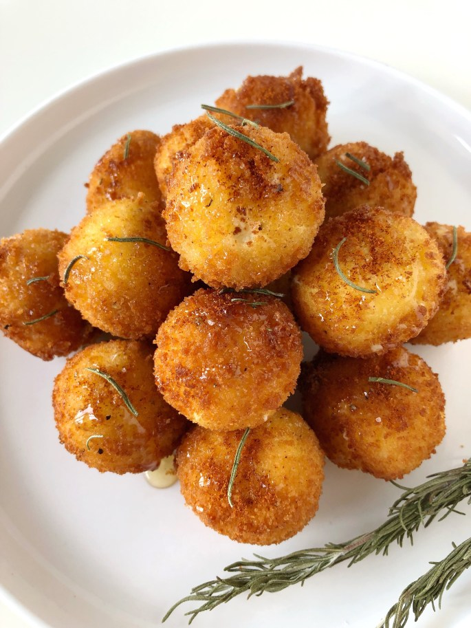 Fried Goat Cheese with Honey