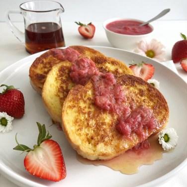 Rhubarb French Toast - Season and Serve Blog