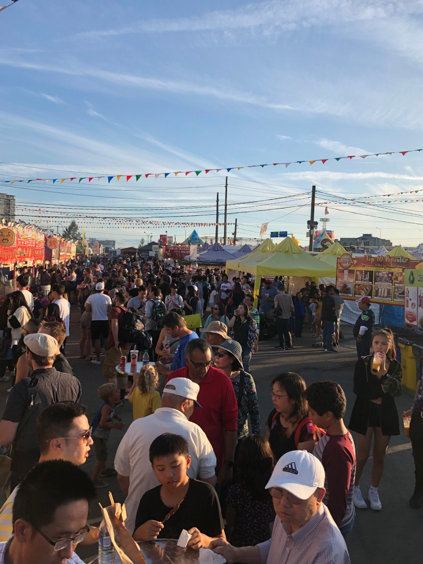 Early evening at the Richmond Night Market